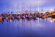 Yachts Prints - Auckland Westhaven Marina Print by Colin and Linda McKie