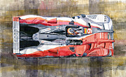 Watercolor  Paintings - Audi R15 TDI Le Mans 24 Hours 2010 winner  by Yuriy  Shevchuk