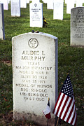 Tombstone Photos - Audie Murphy - Most Decorated by Paul W Faust -  Impressions of Light