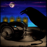 Alternative Rock Art - Audiophile Raven by Milton Thompson