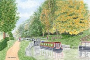 Audlem Lock - Shropshire Union Canal Print by Peter Farrow