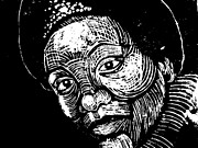 Woodcut Reliefs Posters - Audre Lorde Poster by Jane Madrigal