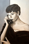 Audrey Hepburn Painting Originals - Audrey by Connie Bishop