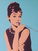 Audrey Hepburn Painting Originals - Audrey by Grant  Swinney