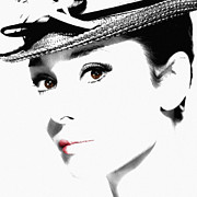 Audrey Photo Posters - Audrey Hepburn 2 Poster by Andrew Fare