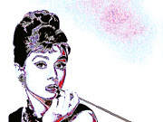 Smoking Digital Art - Audrey Hepburn 20130330 by Wingsdomain Art and Photography