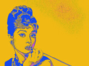 Actors Digital Art Posters - Audrey Hepburn 20130330v2 Poster by Wingsdomain Art and Photography