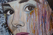 Audrey Hepburn-abstract 2 Print by Ismeta Gruenwald