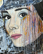 Audrey Hepburn-abstract Print by Ismeta Gruenwald