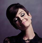 Hepburn Framed Prints - Audrey Hepburn Framed Print by Sanely Great