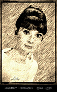 Awards Drawings - Audrey Hepburn by George Rossidis