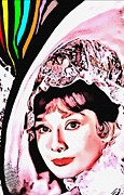 First Lady Mixed Media Framed Prints - Audrey Hepburn in My Fair Lady Framed Print by Art Cinema Gallery