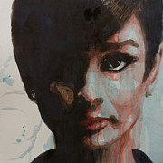 Film Watercolor Paintings - Audrey Hepburn  by Paul Lovering