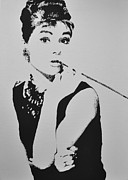 Drink Digital Art Originals - Audrey Hepburn by Paula Sharlea