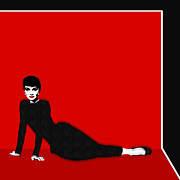 Pop Icon Originals - Audrey Hepburn Strikes A Pose by Tony Rubino