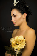 Audrey Hepburn Photos - Audrey Hepburn Yellow Rose  by Rachael Michelle Molinaro
