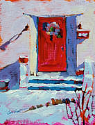 Snowscape Paintings - Audreys by Coni Grant