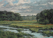 Gregory Arnett Paintings - August Evening - Wellfleet by Gregory Arnett