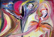 Ballet Dancers Painting Framed Prints - August Romance Framed Print by Judith Desrosiers