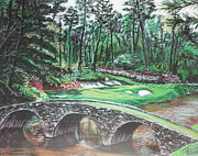 Golf Pastels - Augusta #12 by Jason Hill