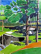 Pga Paintings - Augusta 16th Georgia by Lesley Giles