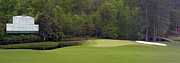 Golf Photos Framed Prints - Augusta National 11 White Dogwood Masters Panorama Photo 3 Framed Print by Phil Reich