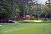 Corner Photo Framed Prints - Augusta National Golf Club Hole 12 Golden Bell Photo 2 Framed Print by Phil Reich