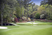 Golf Photos Framed Prints - Augusta National Golf Club Hole 12 Golden Bell Photo 3 Framed Print by Phil Reich