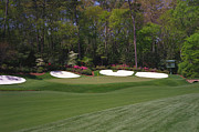 Amen Corner Photos Posters - Augusta National Hole 13 Azalea Masters Photo 2 Poster by Phil Reich