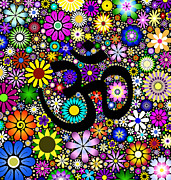 Mind Digital Art - AUM Flowers by Tim Gainey