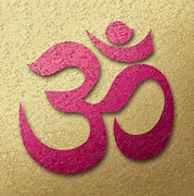 Aum Or Om Symbol Print by Cristina-Velina Ion