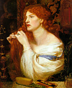 Dante Paintings - Aurelia Fazios Mistress by Dante Gabriel Rossetti