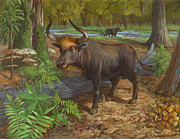 ACE Coinage painting by Michael Rothman - Aurochs