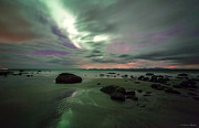 Northernlights Photos - Aurora and sand by Benny Hoeynes