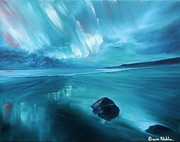 Aurora Borealis Highlands Print by Dawn Noble