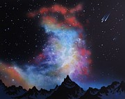Night Glow Painting Originals - Aurora Borealis  by Thomas Kolendra