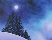 Aurora Borealis Winter Print by Cecilia  Brendel