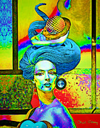 Hairdo Mixed Media - Aurora by Chuck Staley