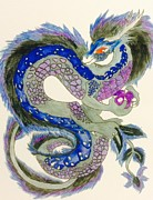 Blue Dragon Art - Aurora Dragon by Blue Dragon