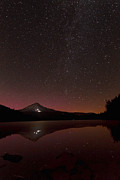 Heavenly Body Posters - Aurora Glow Over Trillium Lake D1938 Poster by Wes and Dotty Weber