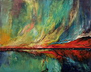 Abstract Realist Landscape Posters - Aurora Poster by Michael Creese