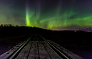Sam Amato Prints - Aurora Railroad Tracks Print by Sam Amato
