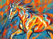Abstract Equine Paintings - Aurora by Theresa Paden