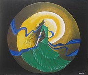 Entering Painting Prints - Auspicious Moment-Oil Painting Print by Rejeena Niaz