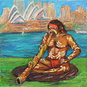 Contemporary Tribal Art Paintings - Aussie Dream I by Xueling Zou