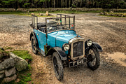 Motor Digital Art Prints - Austin 7 v2 Print by Adrian Evans