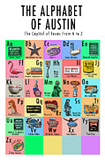 Photomontage Digital Art - Austin Alphabet Print by Carl Crum