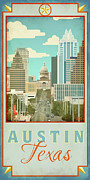 Congress Street Prints - Austin Congress Avenue Print by Jim Sanders