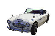 Small Convertible Posters - Austin Healey 300 Classic Convertible Sportscar  Poster by Keith Webber Jr
