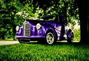 Purple Hot Rod Posters - Austin Hot Rod Poster by motography aka Phil Clark